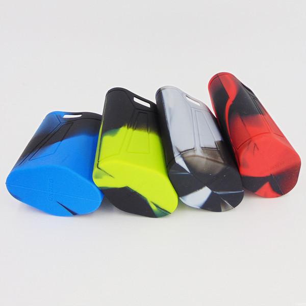 GX350 Estuches de silicona Funda de silicona Funda de goma Funda de goma Cubiertas protectoras Piel para humo GX 350 Box Mod Vape 12 Colores del arco iris Ecig