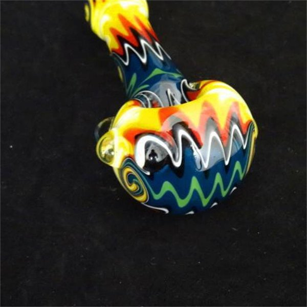 Cheap Colorful Hookahs In Stock Heavy Spoon Pipes Vintage High Quality Smoking Pipes for Man Safe Ship