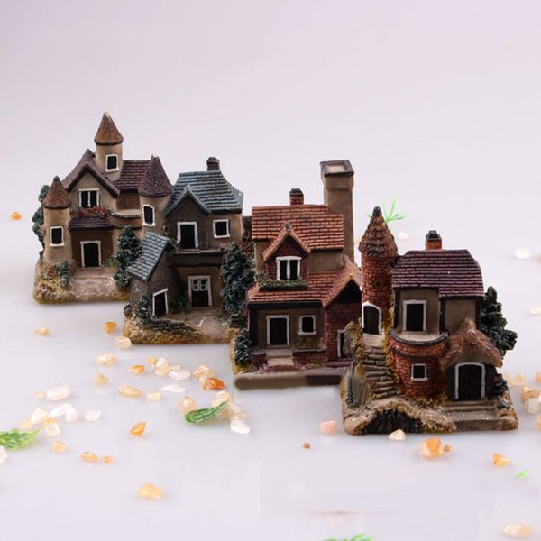 7pcs 1:12 Doll House Miniature Pot Natural Landscape Ornament Micro Accessory