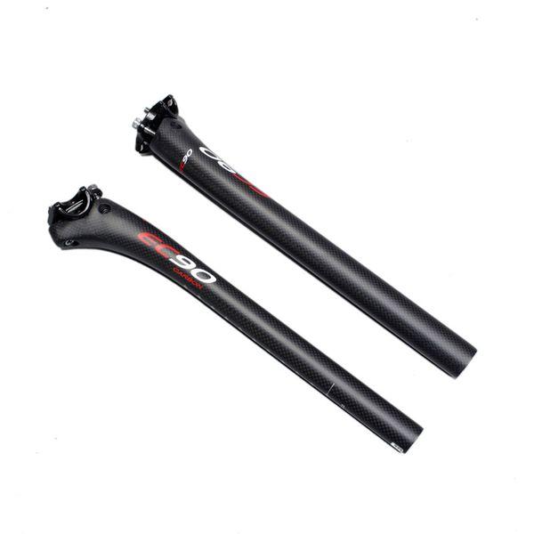 EC90 UD kohlefaser rennrad sattelstütze mtb fahrrad sattelstütze versatz 20mm 3 Karat carbon radfahren teile 27,2 30,8 31,6mm matt