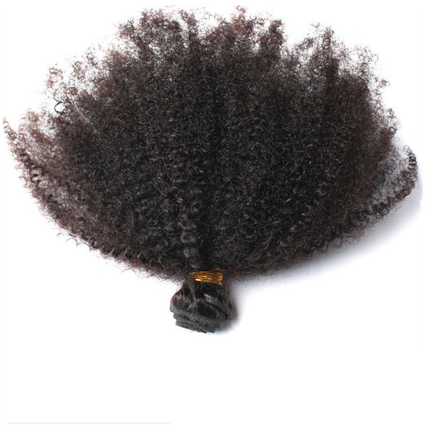 Peruvian Virgin Human Hair Afro Kinky Curly Unprocessed Remy Hair Weaves Double Wefts 100g/Bundle 1bundle/lot Can be Dyed Bleached Fedex