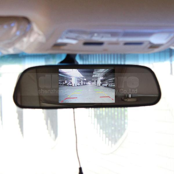 Entrada de video de monitor de espejo retrovisor de monitor de coche de 2 pulgadas para video de cámara de DVD VCR