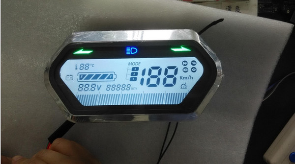 Indicatore batteria tachimetro 48v-72v Display LCD con luce di svolta per strumento bici elettrica SCOOTER triciclo pedale moto scooter