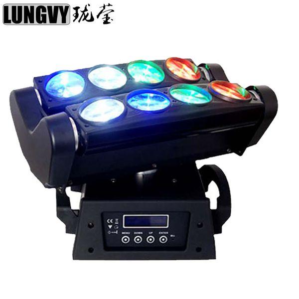 top popular Free Shipping RGBW 4in1 Led Spider Beam Light 8x10w Bar Beam Led Spider Party Light DJ Lighting Moving Head DMX DJ Light 2021