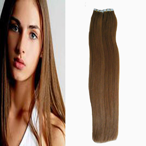 Brazilian virgin hair honey blonde Straight 100g Tape In Human Hair Extensions Adhesives Invisible PU 40pcs Skin Weft hair extension tape