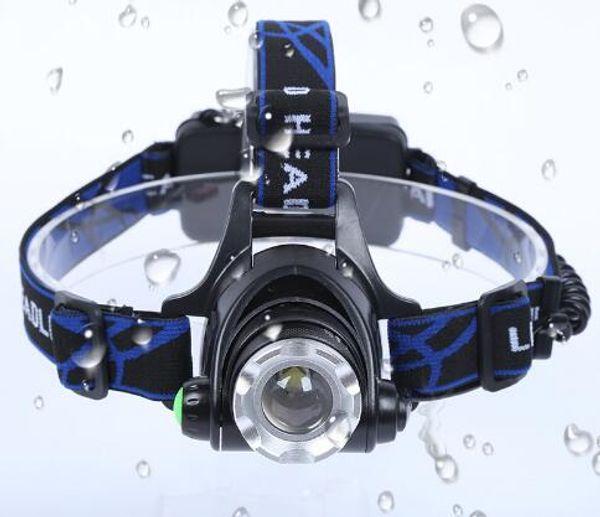 Litwod Z30568D LED Headlamp Aluminum XM-L L2 / T6 Zoom Led Headlight Head Adjustable Head Lamp 18650 Battery Light For fishing