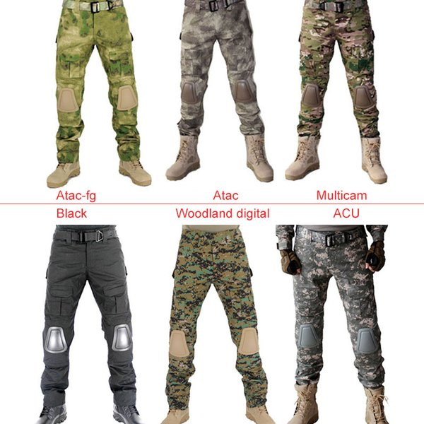 Tactical Pants with Knee Pad Hunting Clothing Airsoft Paintball Army Combat Padding Suit Camouflage Sport Trouser