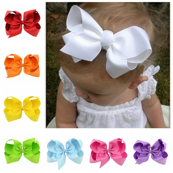2018 Promotion Mix Color Under $2 Multi-color Alice Flower Hair Bows Duckbill Folder Hairband 6 Inches Fashion Hot Ribbon Children Clips 588