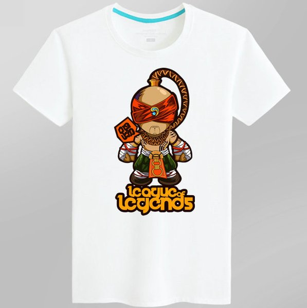 Lee Sin T shirt The Blind Monk short sleeve League of Legends tees Lol game clothing Men cotton Tshirt
