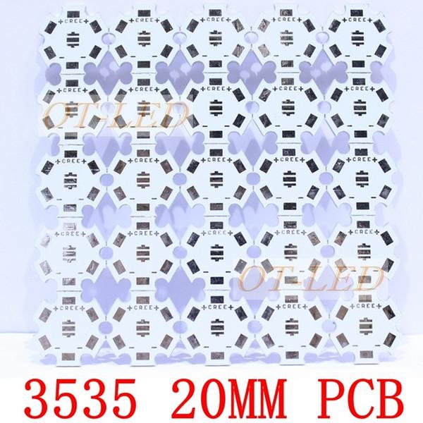 Wholesale-Freeshipping!20MM CREE XPE/XPG/XTE LED PCB/ Aluminum base plate/ Circuit board/ PCB LED board for CREE LED ,100pcs/lot