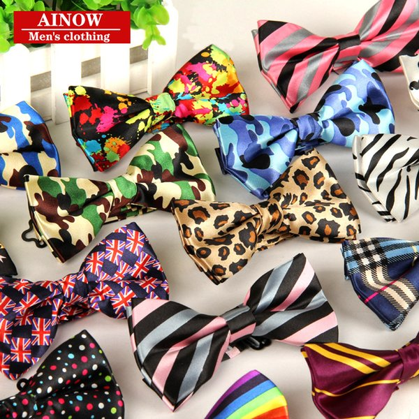 best selling adjustable 12cm*6cm fashion mens bow ties Stripe bowties gravatas borboleta