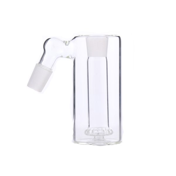 Easy Cleaning Ash Catcher 45 Degree Showerhead perc one inside joint 14 or 18mm glass ash catcher clear glass ashcatcher for water bong