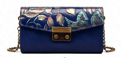 Free Shipping!2017 Hot Sell Newest Classic Fashion Style chinese style Lady Genuine Leather top handle bag hand-painting gift bag #3006-2