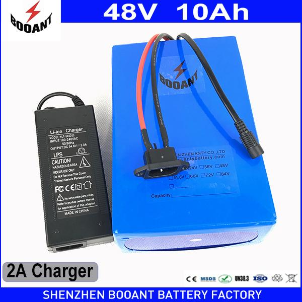 BOOANT 48V 10AH 550W Electric Bicycle Battery for Bafang Motor 48V Li-ion Battery pack with 2A Charger Free Customs to EU US