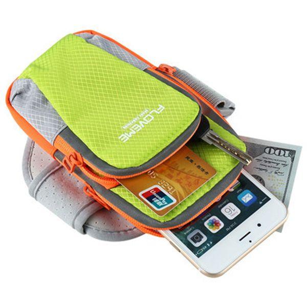 FLOVEME Sport Running Arm Band Custodia per cellulare ArmBand Custodia stilografica Borsa per iPhone 7 6 6S Plus Samsung Edge Note HTC Moto