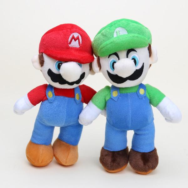 25CM Super Mario Bros plush doll toys Stand soft stuffed toy Super Mario plush MARIO LUIGI anime dolls Christmas gift