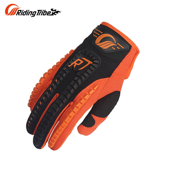 Wholesale- Riding Tribe Screen Touch Full Finger Knight Riding Motorbike Motorcycle Gloves Summer Breathable Motocroos Racing Gloves