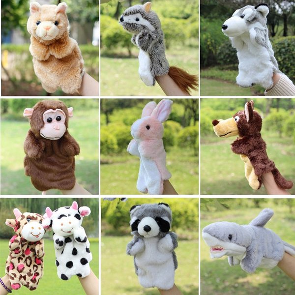 New Arrival Animal Hand Puppet Toys Plush Puppets Sloth Rabbit Cow Cat Monkey Snake Doll Baby Toy Brinquedo Marionetes Fantoche