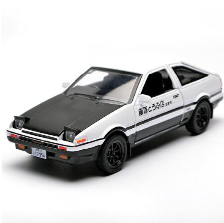132 kids toys ae86 metal toy cars model with light and sound pull back