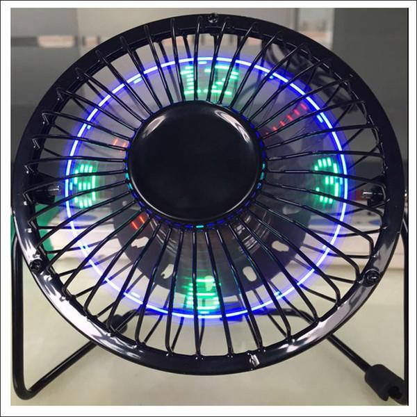 Nouveau et hot table top horloge LED ventilateur Flod ventilateur USB avec la température de la montre connecteur USB 5V ventilateur ventilateur