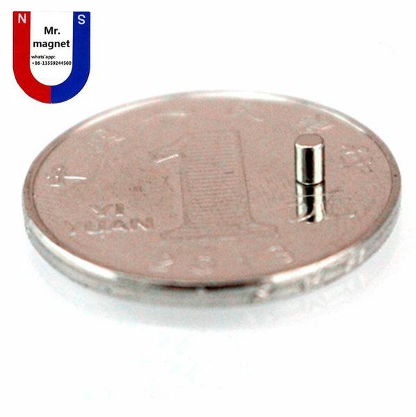 Kleiner Magnet 2x2mm x 3mm des Reises des heißen Verkaufs für artcraft D2x3mm Seltenerdmagnet D2 * 3mm 2x3mm Neodymmagneten 2 * 3mm freies Verschiffen 2 * 3