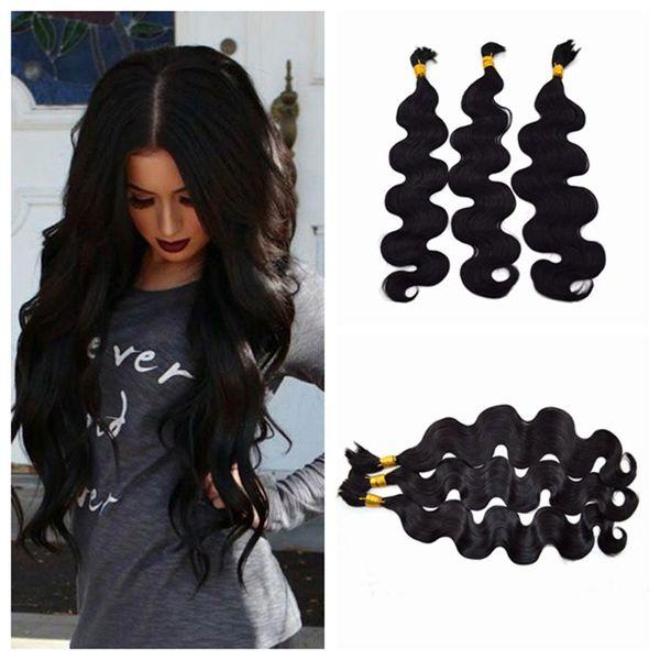 top popular 3pcs Human Braiding Hair Bulk Unprocessed Human Hair Peruvian Body Wave Bulk Hair G-EASY 2019