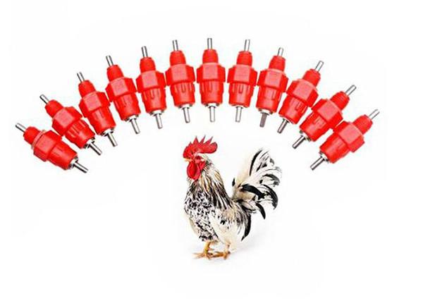 Meme Suluk Besleyici Su Bardağı Tavuk Içecekler Waterer 360 Açı Kanatlı Malzemeleri Besleme Sulama