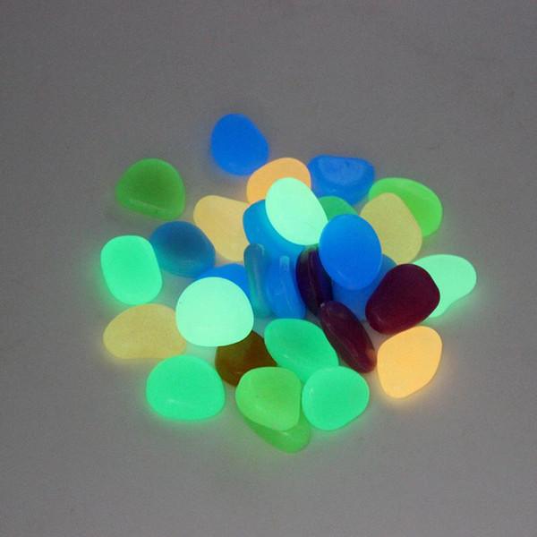 Simulazione di pietra di bagliore solare Pietra di ghiaia leggera luminosa per le decorazioni del corridoio del giardino della decorazione del carro armato di pesci domestici Trasporto libero