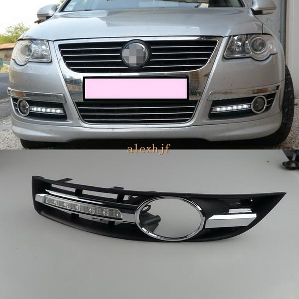 LED-Tagfahrlicht DRL mit Nebelscheinwerfer-Abdeckung für Volkswagen Passat B6 Magotan 2006 ~ 2011 Ersatz, 1 Satz, schnelles Verschiffen
