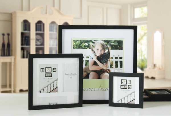 10PCS/LOT 13 Color Solid wooden picture frame hanging wall posters wholesale 13 inches square studio photographs puzzle decoration as frames