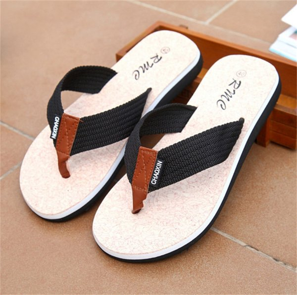 Chanclas Sandalias de los hombres Zapatos para Casual Walking Beach Slides Zapatillas de masaje EVA Designer Flats Male Summer Mens Shoes SLM505