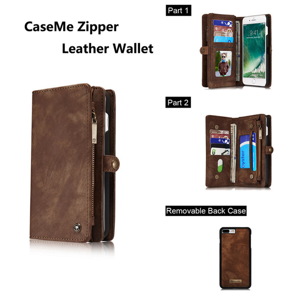 Luxury Original Brand Flip Leather Cover For Apple iPhone 7 7plus Case Card Slots Wallet Magnetic Phone Case Stands High Quality Accessories