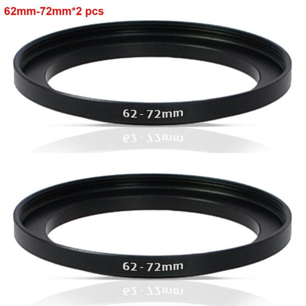 Wholesale- JUST NOW High-quality 2PCS 62-72MM Step-Up Ring Filter Adapter (62MM Lens to 72MM Accessory) (2 PCS Ring Filter Adapter)