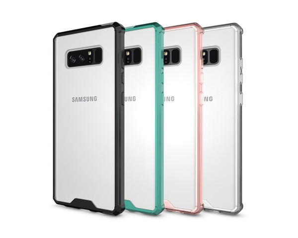 New Hybrid TPU Bumper Frame Air Cushion Protective Case Clear Crystal Back Cover Shockproof Shell For Samsung s7 s8 Note 8 iphone X 8 7 PLUS