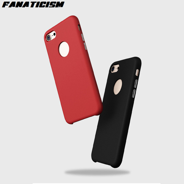 Fanaticism Luxury Plating Button Anti-Drop Shockproof Matte Soft TPU Silicone Case For iphone X 5 5s SE 6 6s 7 8 Plus Cover
