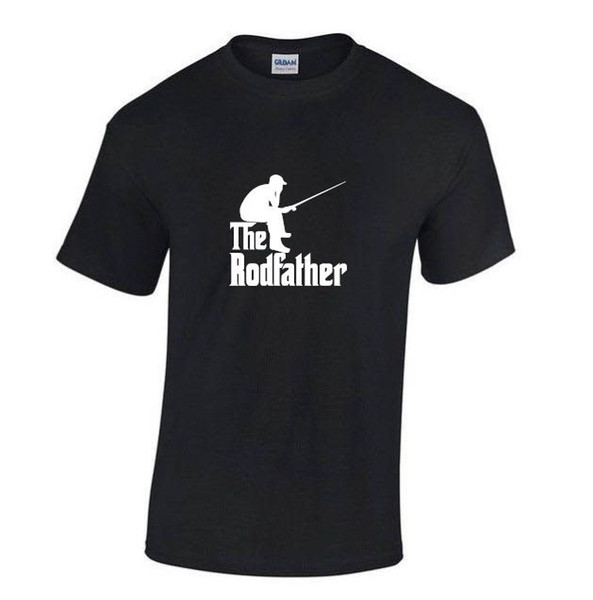 T-shirt Brand 2017 Male Short Sleeve THE RODFATHER FISHER T-SHIRT , Black or White Men T Shirt Cheap Sale 100 % Cotton