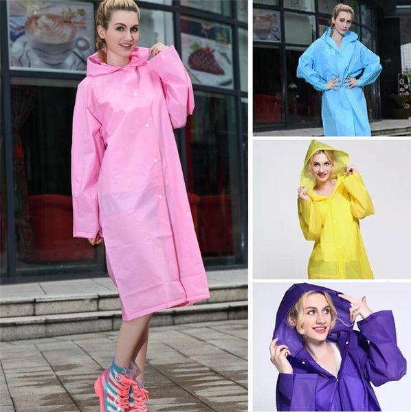 New Easy Carried Rain Coat Wind Coat EVA Women's Hooded Raincoat Waterproof Transparent Poncho Hiking Non-disposable raincoat B0487