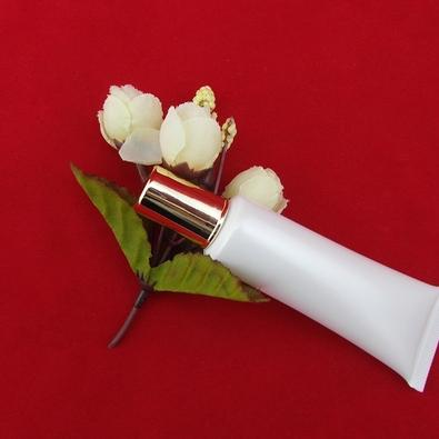 Free shipping 15g 15ml white empty hose tube aftershave cosmetic soft tube butter hose with gold cylinder cap