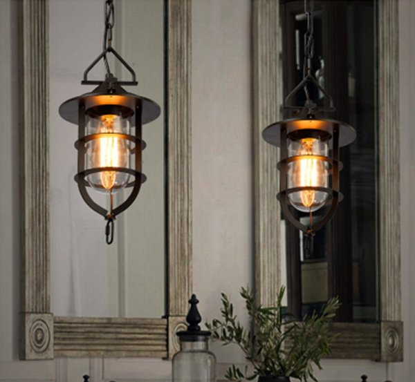 Loft retro industrial wind personality Cafe American country iron bar restaurant chandelier lamp cover LLFA