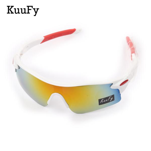 34b80a3ff5de Wholesale- KuuFy Windproof Cycling Glasses Outdoor Sports Security Explosion -proof UV 400 Eyewear Sunglasses
