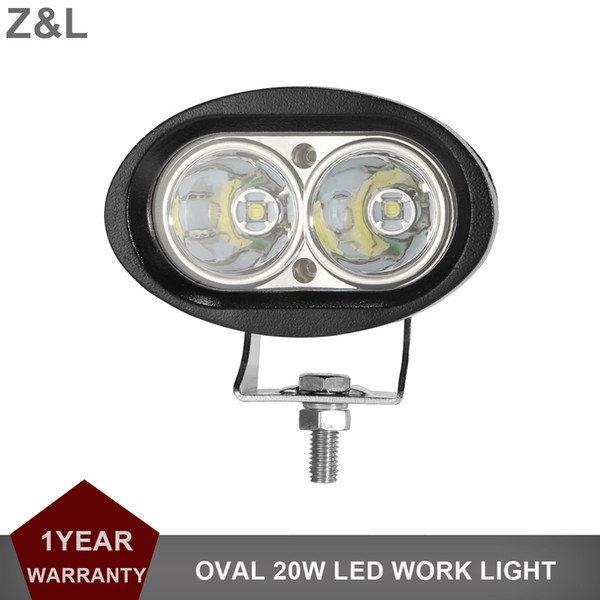 20W Oval LED Work Light Offroad Car Auto Truck ATV Motorcycle Trailer Bicycle 4x4 Fog Lamp Driving Headlight 12V 24V Styling Indicator