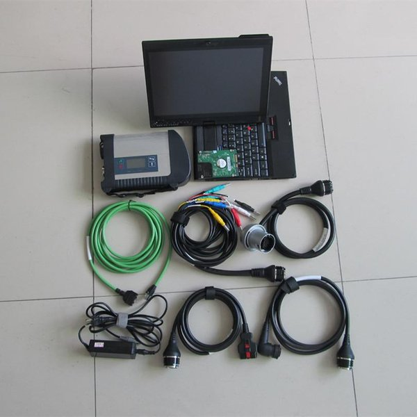 diagnostic tool multiplexer mb star c4 with laptop x200t touch screen with hdd 320gb xentry das epc