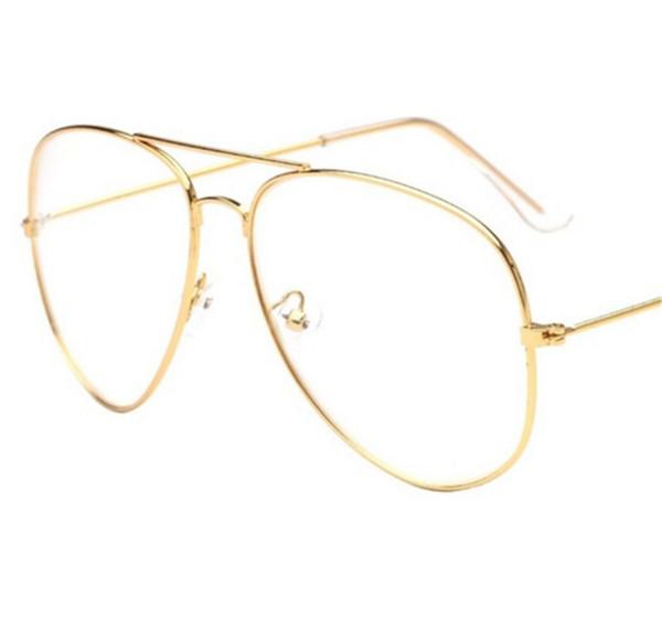 2017 Marka Temizle Gözlük Kadınlar Klasik Optik Gözlük Havacılık Alaşım Çerçeve Şeffaf Lens Gözlük Erkek Güneş Gözlüğü Kadın ulosculos