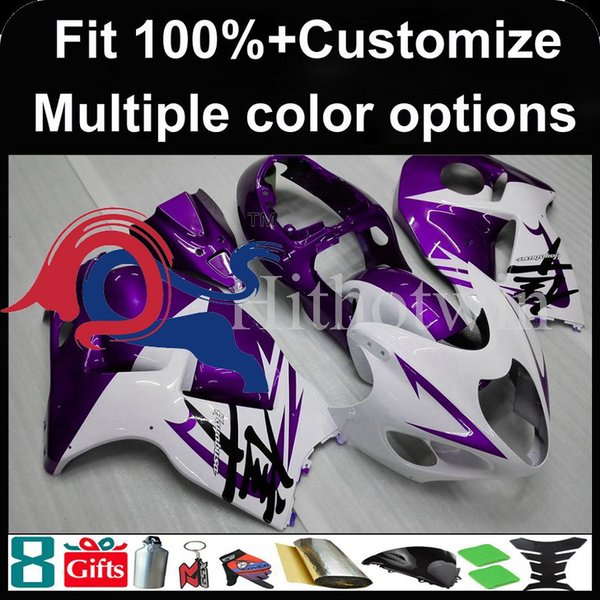 Molde de inyección Cubierta de moto violeta para Suzuki GSX-R1300 1997-2007 GSXR1300 97 98 99 00 91 92 93 94 95 96 97 Carenado de plástico ABS