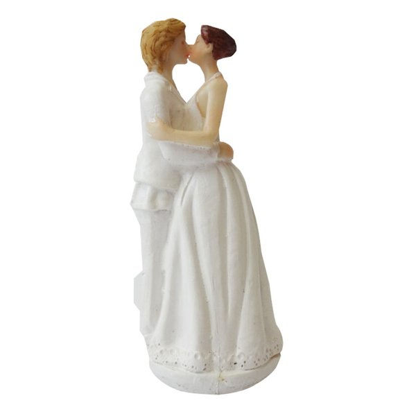 Wedding Cake Topper with Bride and Groom Couple Figurine Lesbian Cake Decoration for Wedding Anniversary Party