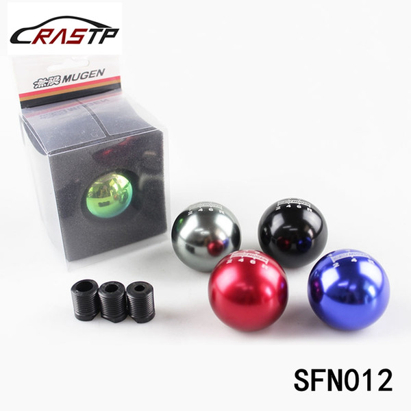best selling RASTP-Neo Chrome MUGEN 6 Speed Universal Manual Automatic Spherical Shape Gear Shift Knob For Honda Acura TOYOTA MAZDA LS-SFN012