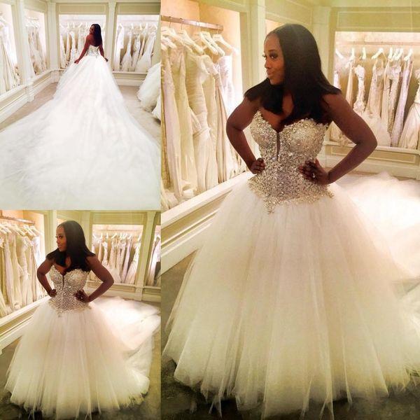 Großhandel Hot Sweetheart Dubai Nigerian Ballkleid Brautkleider ...