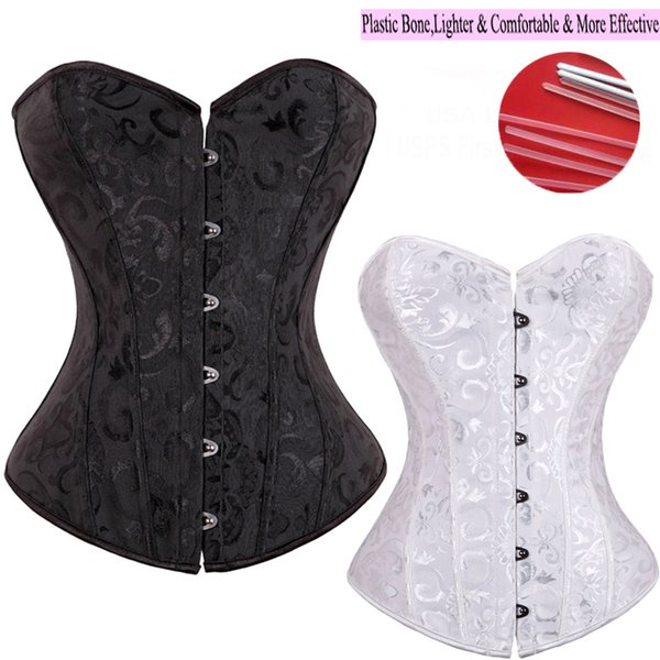 top popular New Fashion Good Quality Sexy Women Waist Brocade Corsets Embroidery Waist Trainer Cincher Plus Size S-6XL Body Shaper 2019