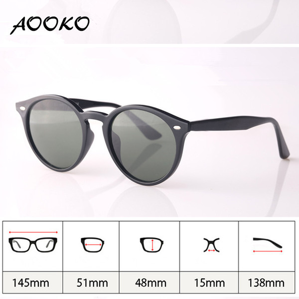 d420d07df0 AOOKO 2017 Hot Fashion Retro Vintage 51mm Round Gradient Sunglasses Men  Women Brand Designer Lunettes Oculos de sol Sun Glasses with case