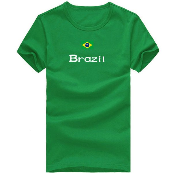 Brazil T shirt Crew neck sport short sleeve Good tees Nation flag clothing Unisex cotton Tshirt
